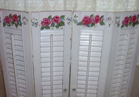 Floral Privacy Screen made Purely from shutters
