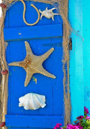 Beach Cottage decoration for shutters
