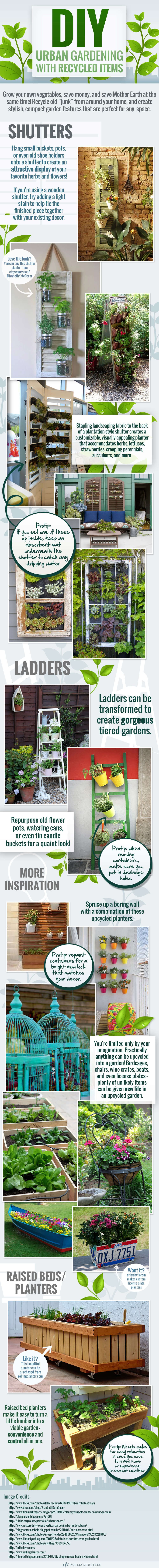 DIY Urban Gardening with Recycled Items