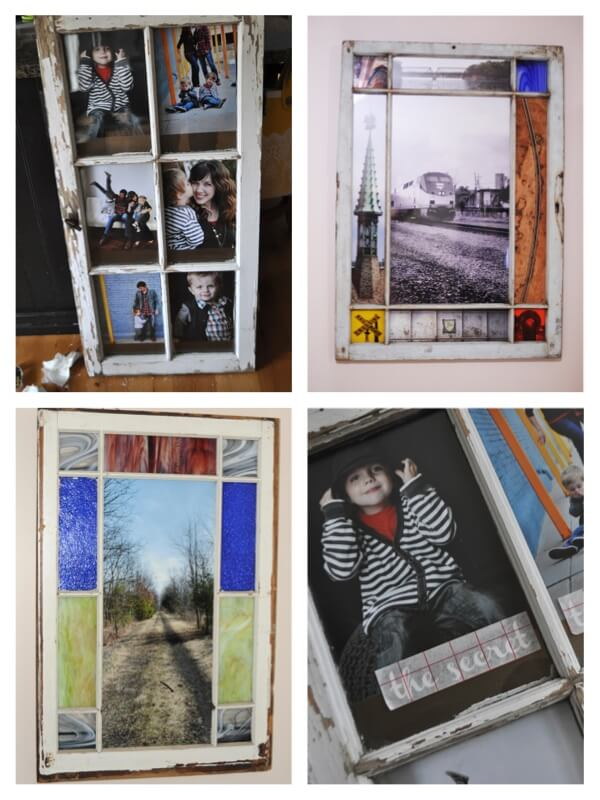 pictures in window frames