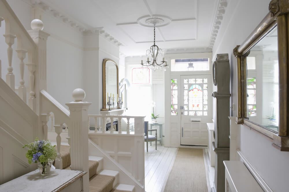 Cream tidy hallway
