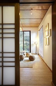 Japanese Paper Screens Dividing a room