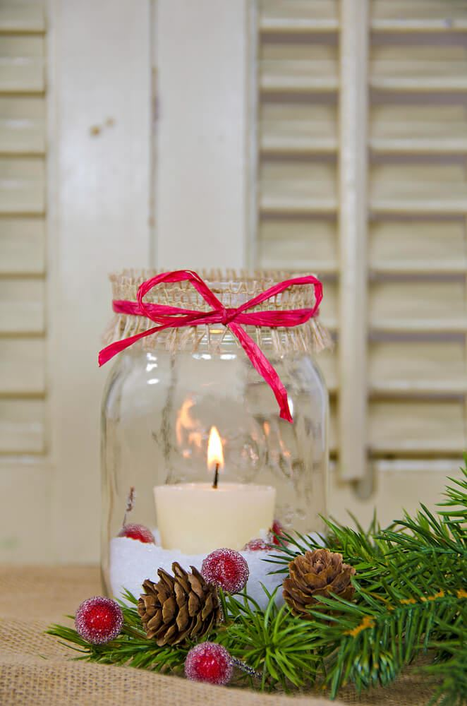 candle and shutters