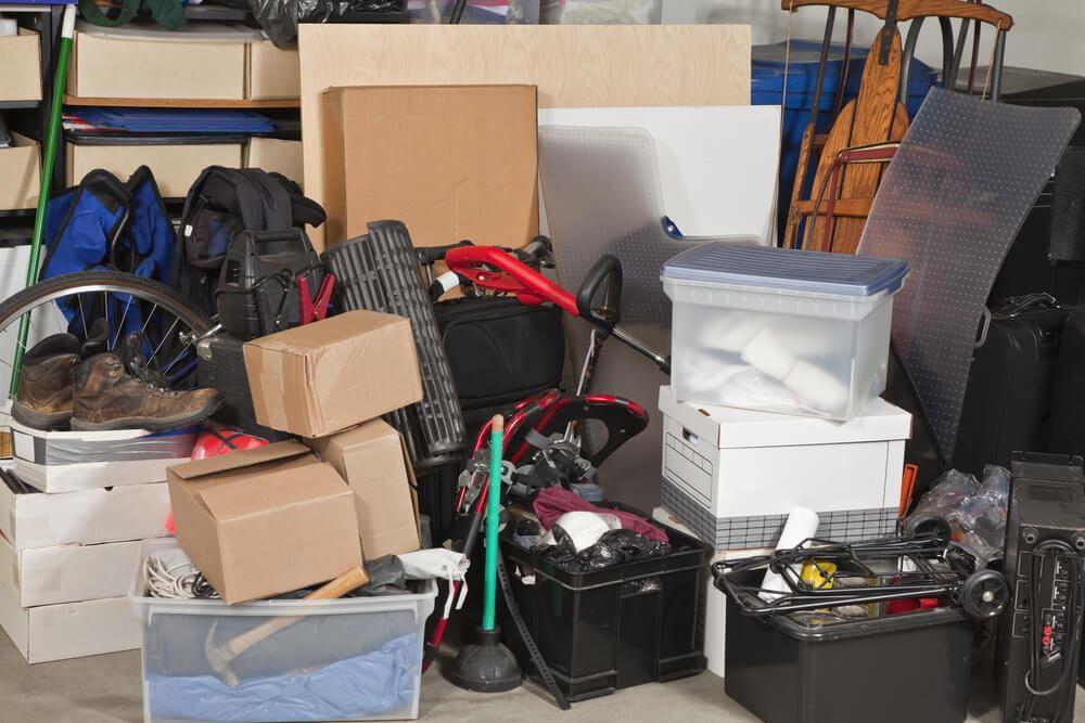 clutter in garage