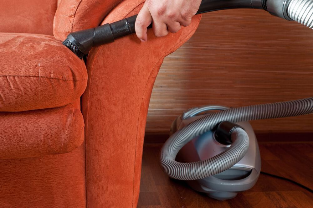 hoovering sofa