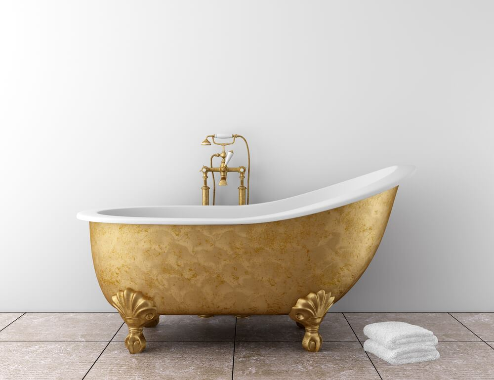 golden bath