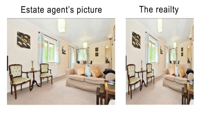 Estate Agents picture v the reality