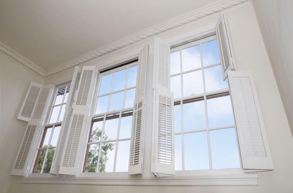 shutters on window