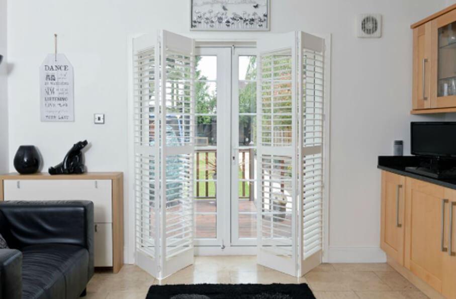 bi folding plantation shutter doors