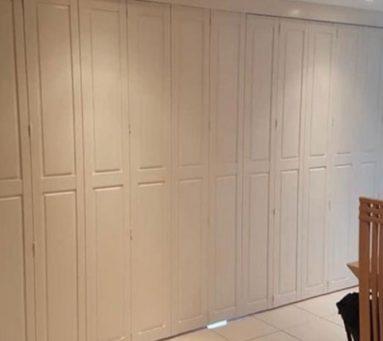 solid shutter installation