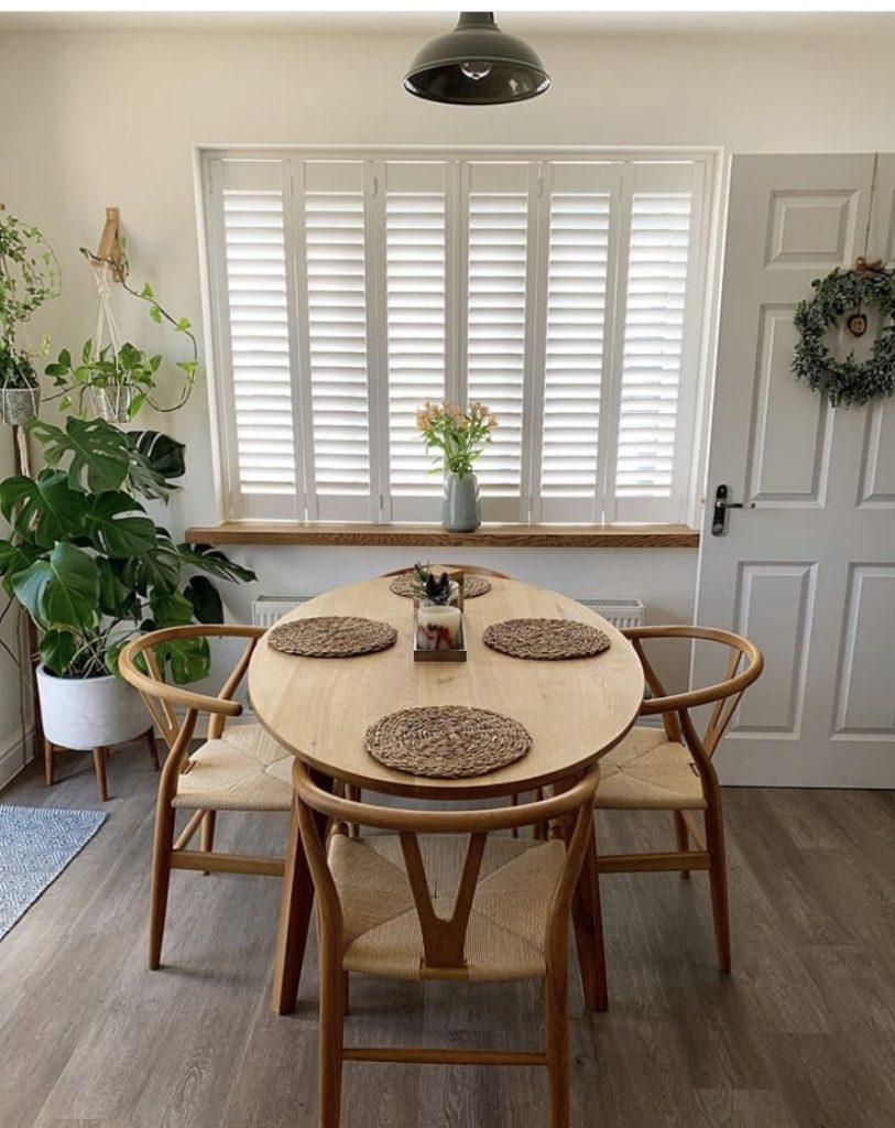 shutters installation in dining room
