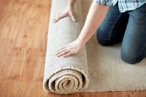 rolling out rug